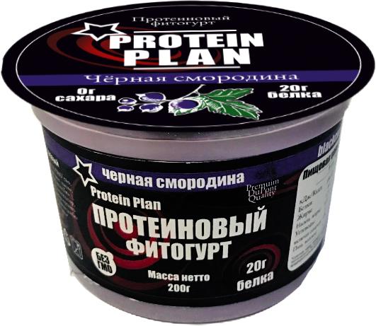 Protein Plan Фитогурт с Черной смородиной протеиновый 2,7%, 200 г protein plan соевый напиток 1 5% 500 г