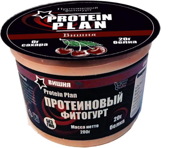 Protein Plan Фитогурт с Вишней протеиновый 2,7%, 200 г protein plan соевый напиток 1 5% 500 г