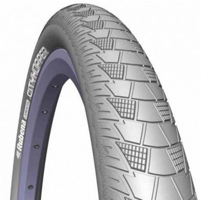 Покрышка велосипедная Mitas V99 Cityhopper, цвет: серый, 26 x 2,00