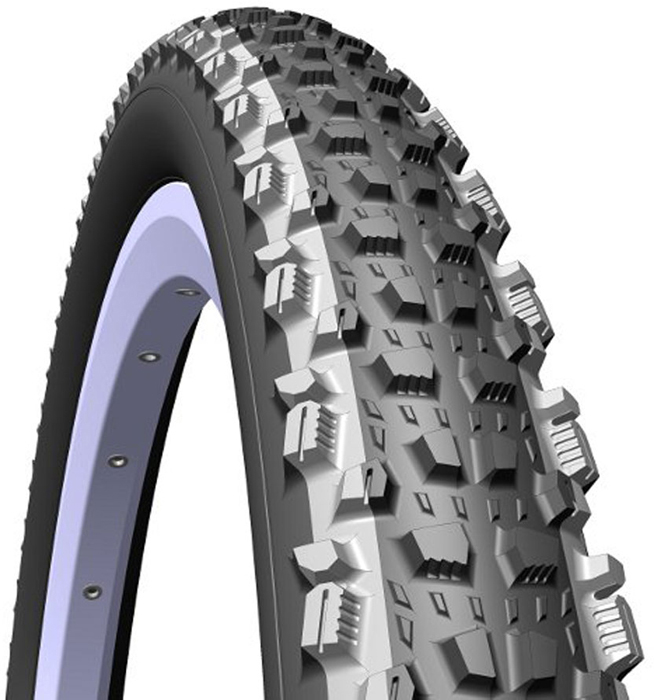 Покрышка велосипедная Mitas V98 Kratos TD, цвет: черный, 26 x 2,25