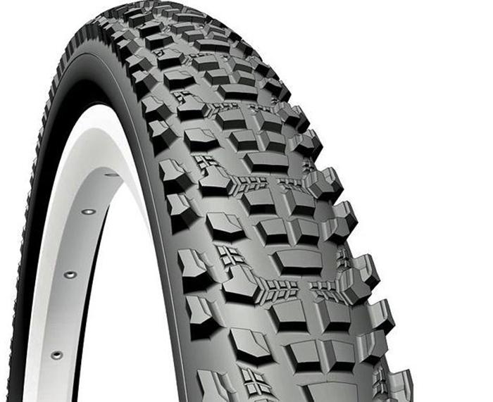 Покрышка велосипедная Mitas V85 Ocelot, цвет: черный, 27,5 x 2,10