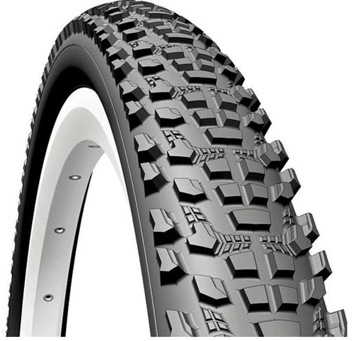 Покрышка велосипедная Mitas V85 Ocelot, цвет: черный, 24 x 2,10