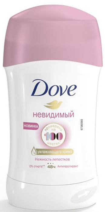 Dove Антиперспирант-карандаш невидимый Нежность лепестков, 40 мл косметика для мамы dove антиперспирант для женщин невидимый стик 40 мл
