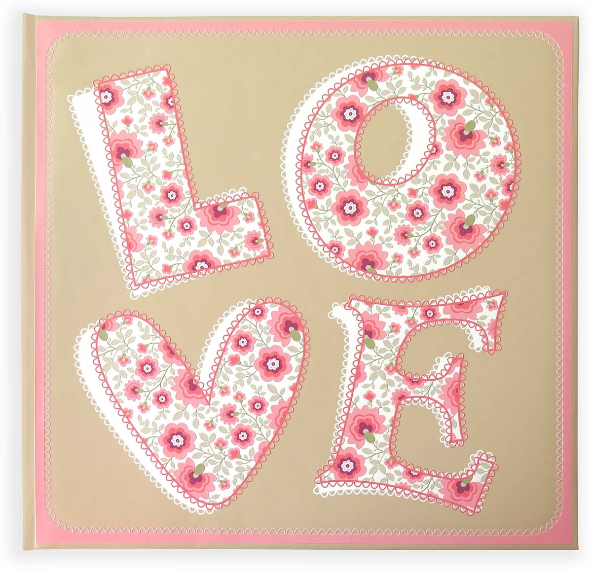 Фотоальбом Фолиант, цвет: бежевый, розовый, 30 листов. ФА-13 фотоальбом platinum классика 300 фотографий цвет бежевый розовый 10 x 15 см