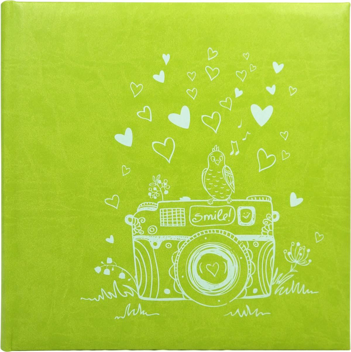 Фотоальбом Фолиант, цвет: светло-зеленый, 30 листов. ФА-5 florentia фотоальбом кожаный aurora 33 х 33 60 листов florentia al33617001