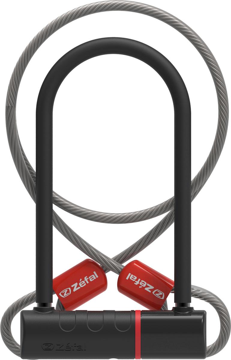 Замок велосипедный Zefal K-TRAZ U11 Cable, трос 10 мм х 1,2 м, 3 ключа, 115 х 230 x 13 мм