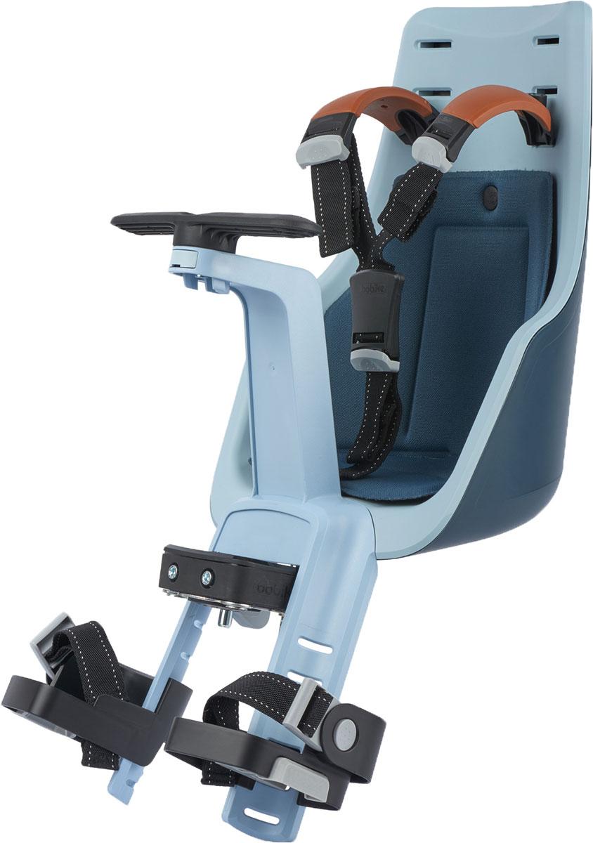 Велокресло переднее Bobike Exclusive Mini, крепление на руль, цвет: синий