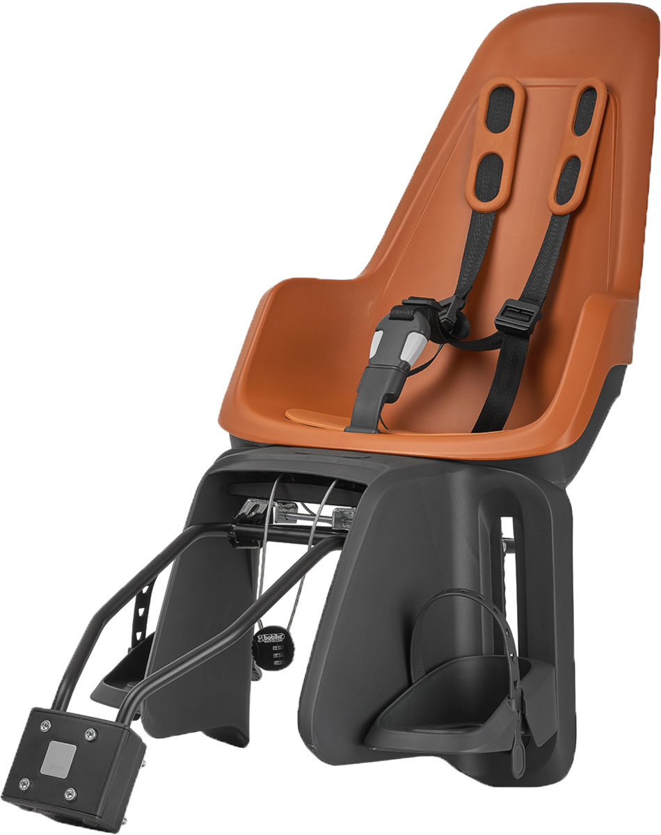 Велокресло заднее Bobike One Maxi 1P, крепление на раму и багажник велосипеда, цвет: светло-коричневый группа 1 от 9 до 18кг 8мес 4года maxi cosi pearl 2way