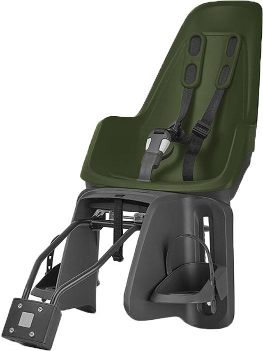 Велокресло заднее Bobike One Maxi 1P, крепление на раму и багажник велосипеда, цвет: зелёный багажники inno