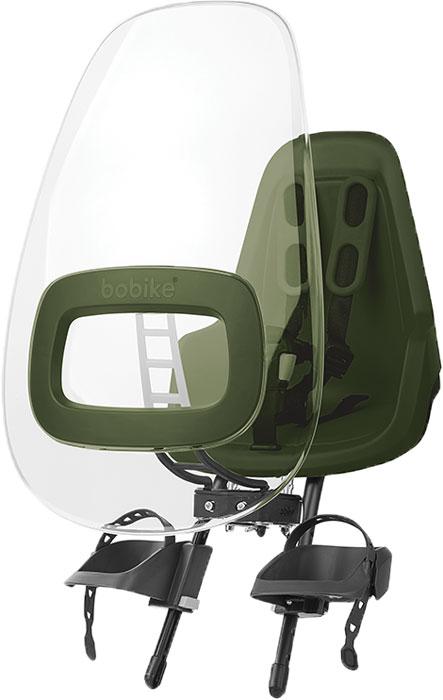 Ветровое стекло для велокресел Bobike Windscreen One +, цвет: зелёный велокресло bobike one mini coffee brown