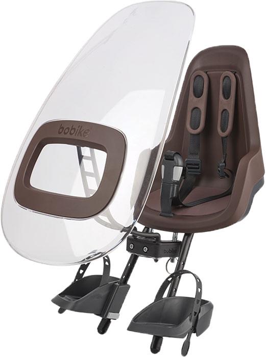 Ветровое стекло для велокресел Bobike Windscreen One +, цвет: коричневый