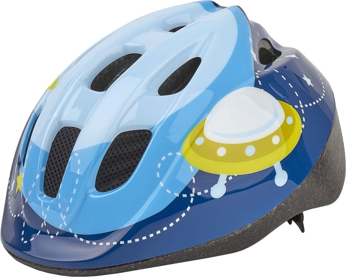 Шлем велосипедный Bobike Kids Astronaut, детский, цвет: синий. Размер XS (46-53 см)