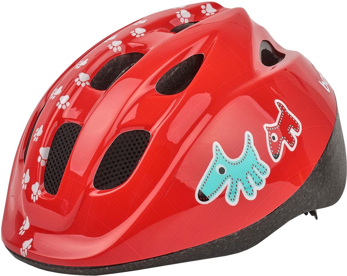Шлем велосипедный Bobike Kids Buddy, детский, цвет: красный. Размер XS (46-53 см)