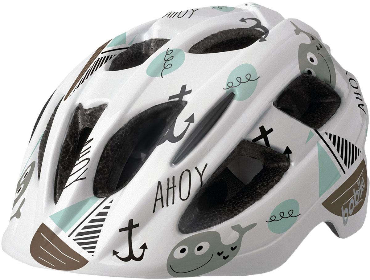 Шлем велосипедный Bobike Plus Ahoy, детский, цвет: зеленый. Размер XS (46-53 см)