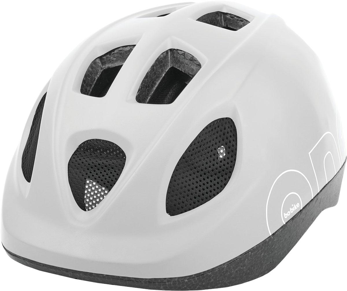 Шлем велосипедный Bobike One Snow White, детский, цвет: белый. Размер S (52-56 см)