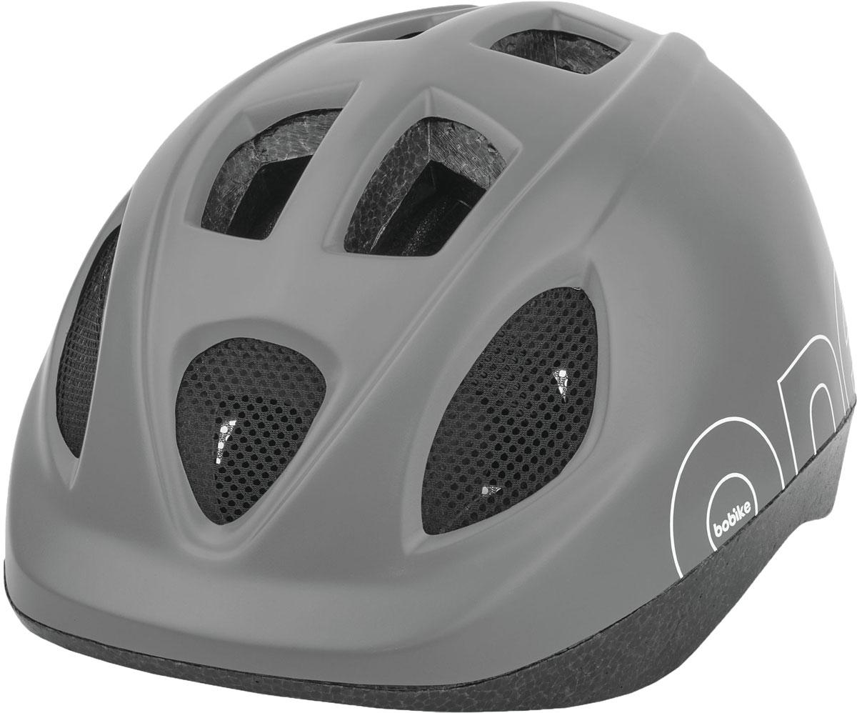 Шлем велосипедный Bobike One Urban Grey, детский, цвет: серый. Размер S (52-56 см)