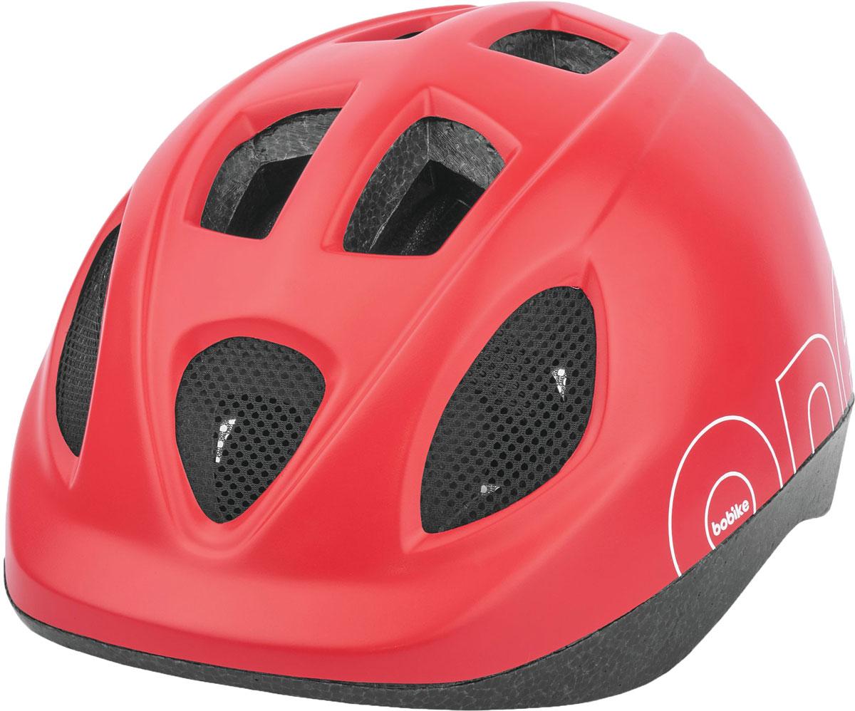 Шлем велосипедный Bobike One Strawberry Red, детский, цвет: красный. Размер S (52-56 см)