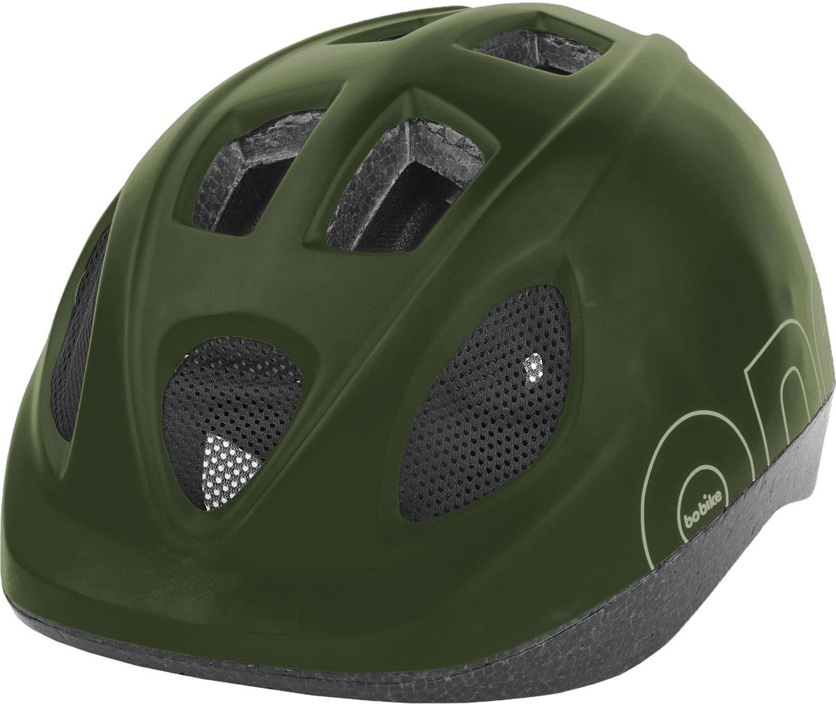 Шлем велосипедный Bobike One Olive Green, детский, цвет: зеленый. Размер S (52-56 см)8740300026Девиз Bobike – просто безопасно! Важнейшей частью безопасного катания на велосипеде является шлем. Серия шлемов Bobike ONE – это качественные шлемы доступные в цветах кресел Bobike ONE. Вы сможете подобрать шлем отлично дополняющий Ваше кресло, велосипед и образ в целом. Лёгкая конструкция с улучшенной защитой затылка. 9 вентиляционных отверстий обеспечивают великолепную циркуляцию воздуха. Каждое вентиляционное отверстие закрыто противомоскитной сеткой, защищая голову от летящих жуков. Шлем имеет регулировку размера для идеальной подгонки посадки шлема под голову вашего ребёнка и светоотражающую наклейку на затылке, увеличивающую заметность ребёнка на дороге.• Цвета в стиле кресел Bobike ONE• 9 вентиляционных отверстий• Регулировка размера на затылке• Светоотражающай элемент, для лучше заметности на дороге• Возраст от 5 лет• Размер S: от 52 до 56 см• Вес: 235 г.