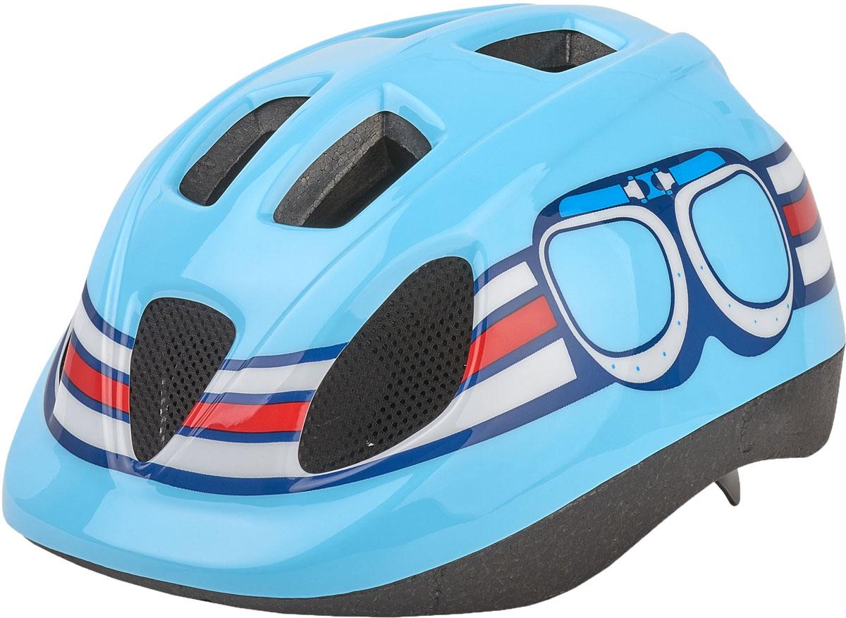 Шлем велосипедный Bobike Kids Pilot, детский, цвет: голубой. Размер S (52-56 см) шлем велосипедный bobike one bahama blue детский цвет голубой размер s 52 56 см