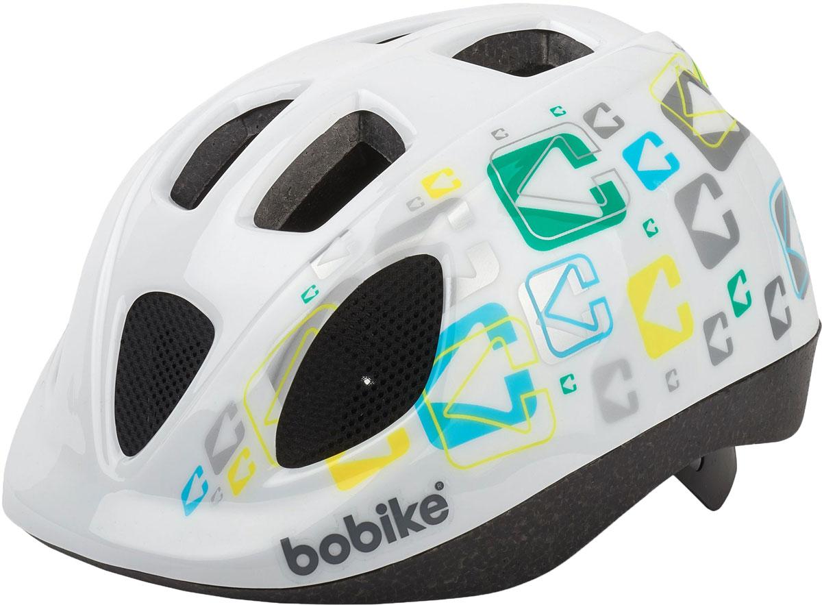 Шлем велосипедный Bobike Kids Go, детский, цвет: белый. Размер S (52-56 см)