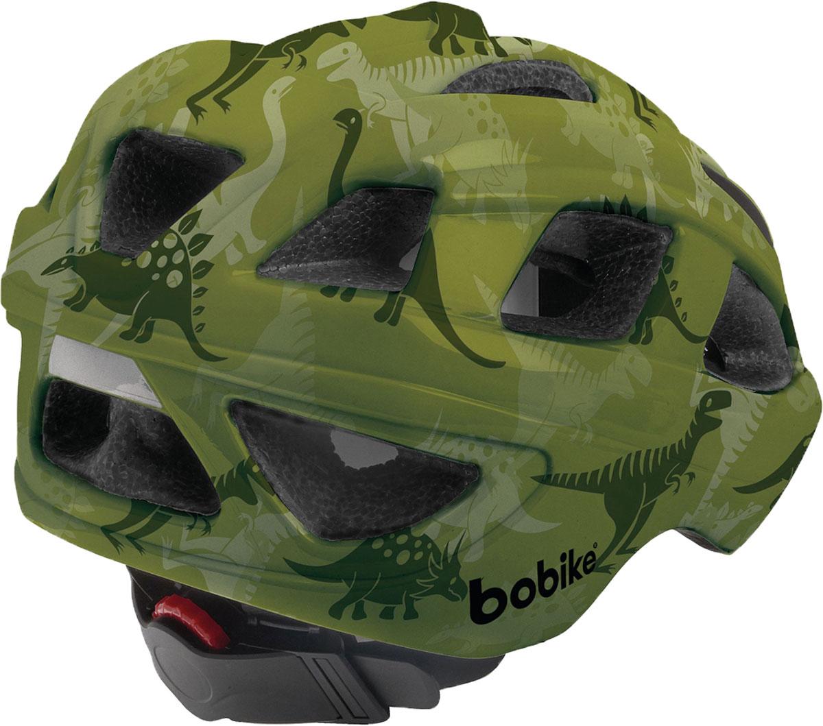 Основа безопасного катания на велосипеде – это хороший шлем. Bobike понимает это и представляет линейку шлемов Bobike Helmet PLUS. Под ярким и запоминающимся дизайном, который обязательно понравится вашим детям, скрывается прочная и лёгкая конструкция ин-молд с улучшенной защитой затылка. 16 вентиляционных отверстий обеспечивают великолепную циркуляцию воздуха. Каждое вентиляционное отверстие закрыто противомоскитной сеткой, защищая голову от летящих жуков. Шлем имеет термоформируемую подкладку и регулировку размера для идеальной подгонки посадки шлема под голову вашего ребёнка и светоотражающую наклейку на затылке, увеличивающую заметность ребёнка на дороге.• Конструкция ин-молд• 3 великолепных запоминающихся дизайна• 16 вентиляционных отверстий• Термоформирующаяся подкладку• Регулировка размера на затылке• Светоотражающай элемент, для лучше заметности на дороге• Возраст от 5 лет• Размер S: от 52 до 56 см• Вес: 235 г.