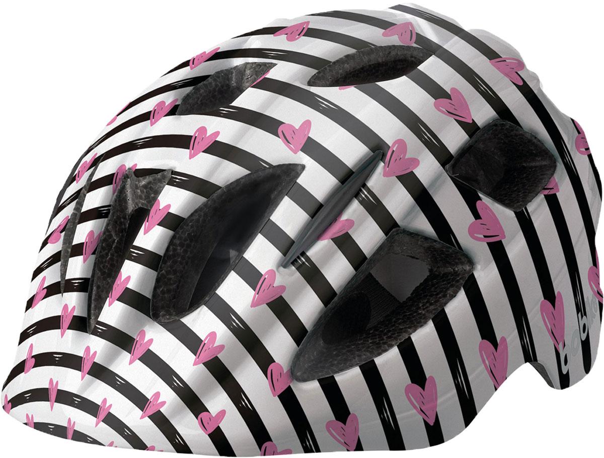Шлем велосипедный Bobike Plus Pinky Zebra, детский, цвет: розовый. Размер S (52-56 см)