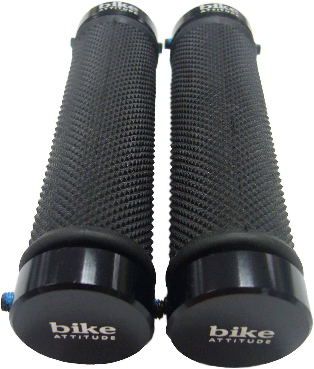 Грипсы Bike Attitude VLG775, с фиксатором, длина 13 см, цвет: черный