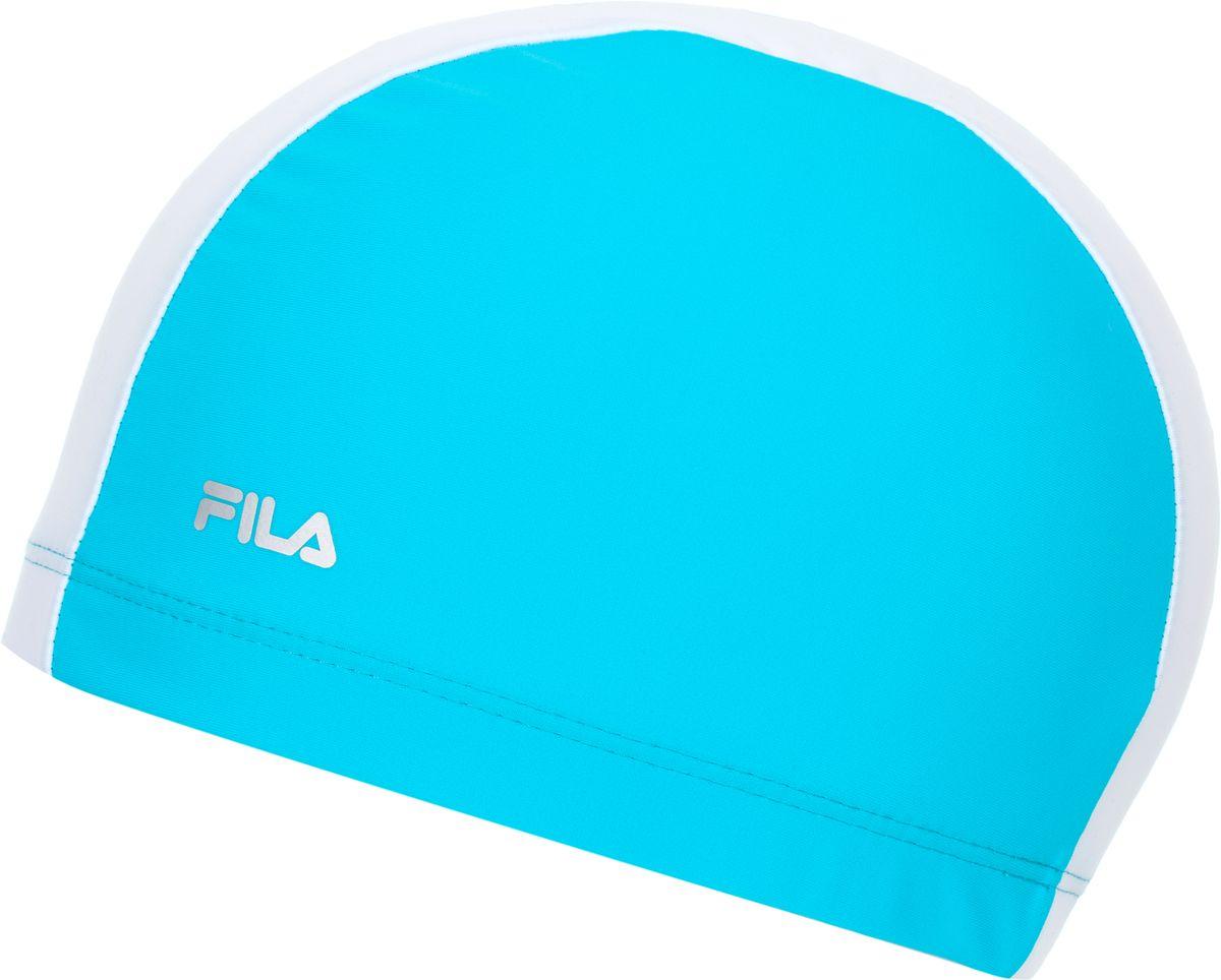 Шапочка для плавания Fila, цвет: синий, белый. 17BAU320MW17BAU320MWШапочка от Fila подойдет для занятий плаванием в бассейне. Волокна creora highclo обеспечивают устойчивость материала к хлорированной воде.