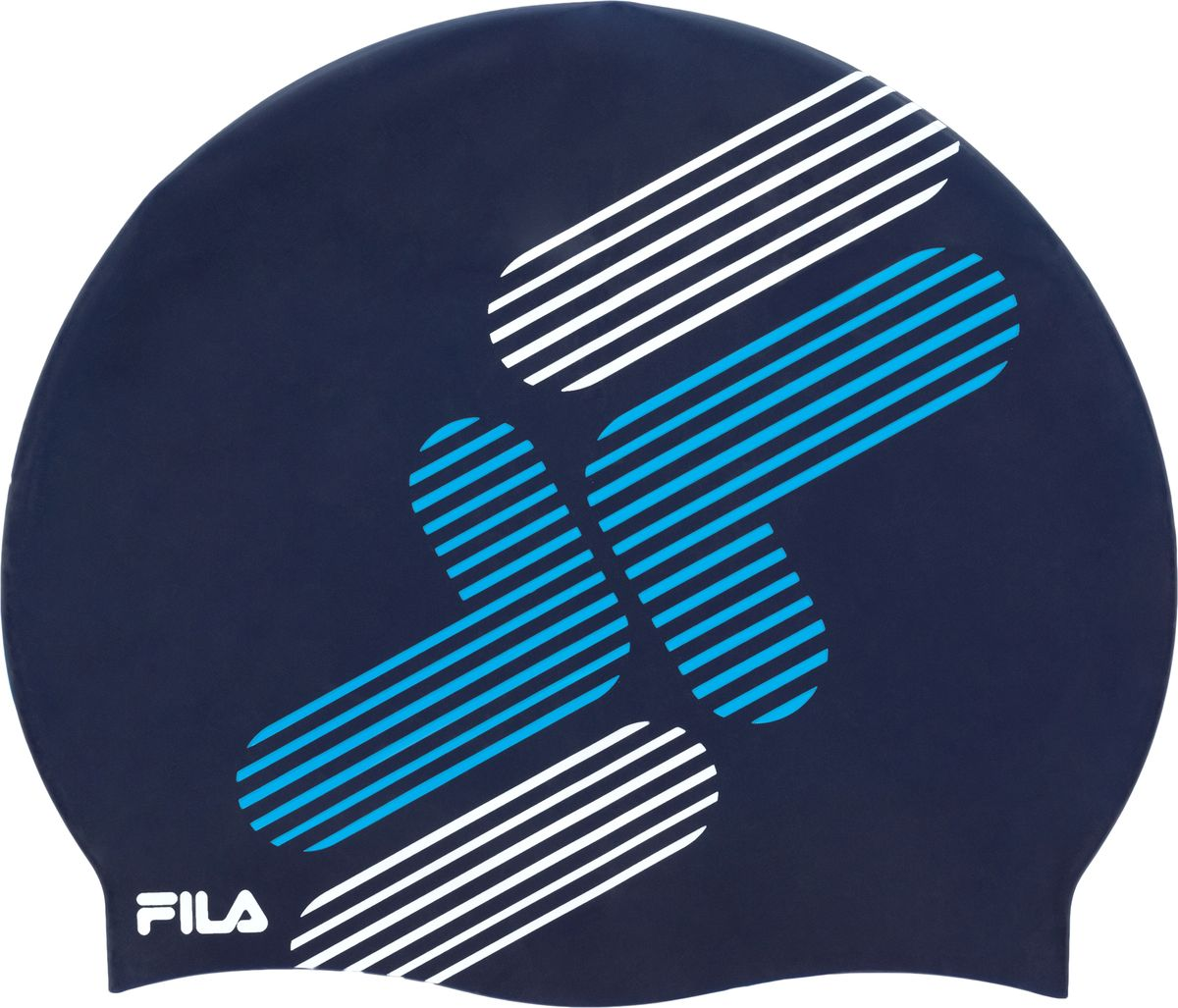 Шапочка для плавания Fila, цвет: темно-синий. 17BAU321Z4