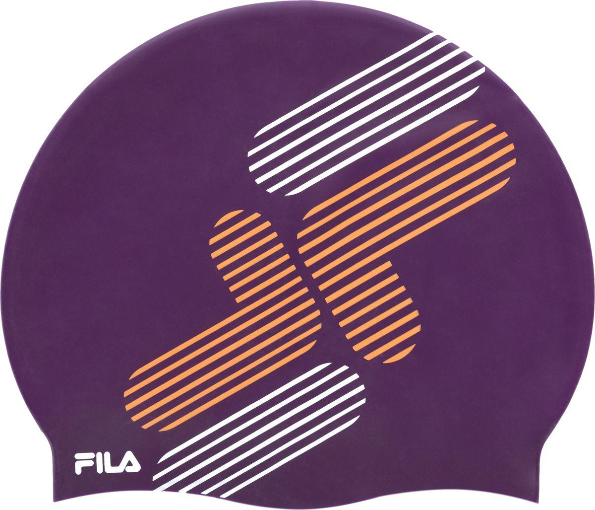 Шапочка для плавания Fila, цвет: фиолетовый. 17BAU321P317BAU321P3Шапочка для плавания от Fila, выполненная из эластичного водонепроницаемого силикона.