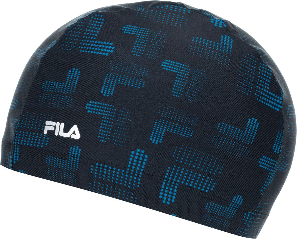Шапочка для плавания Fila, цвет: черный, синий. 17BAU322BM17BAU322BMУдобная и практичная шапочка для занятий плаванием в бассейне от Fila. Эластичные волокна creora highclo обеспечивают устойчивость к хлорированной воде.