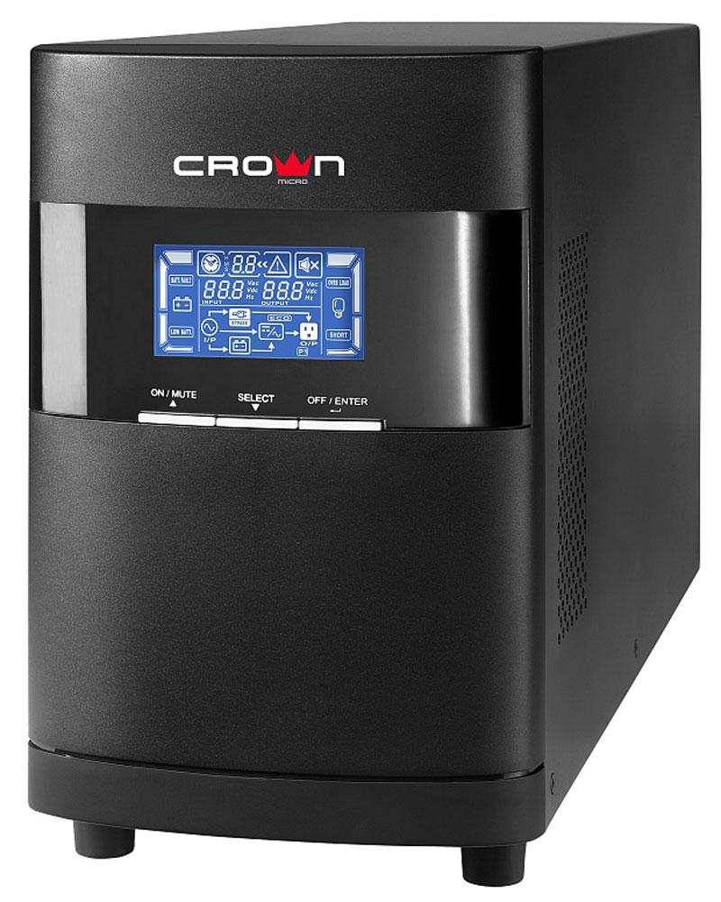 Crown Micro CMUOA-350-1K IEC 1000VA/900W ИБПCMUOA-350-1KЭта серия ИБП класса On-Line предназначены для защиты серверов, групп компьютеров, сетевых коммутаторов, ЦОД и другого ответственного вычислительного и телекоммуникационного оборудования, требующего высокого качества электропитания. Наличие дополнительных батарейных кабинетов позволяет увеличить время работы при отсутвии напряжения во входной электросети