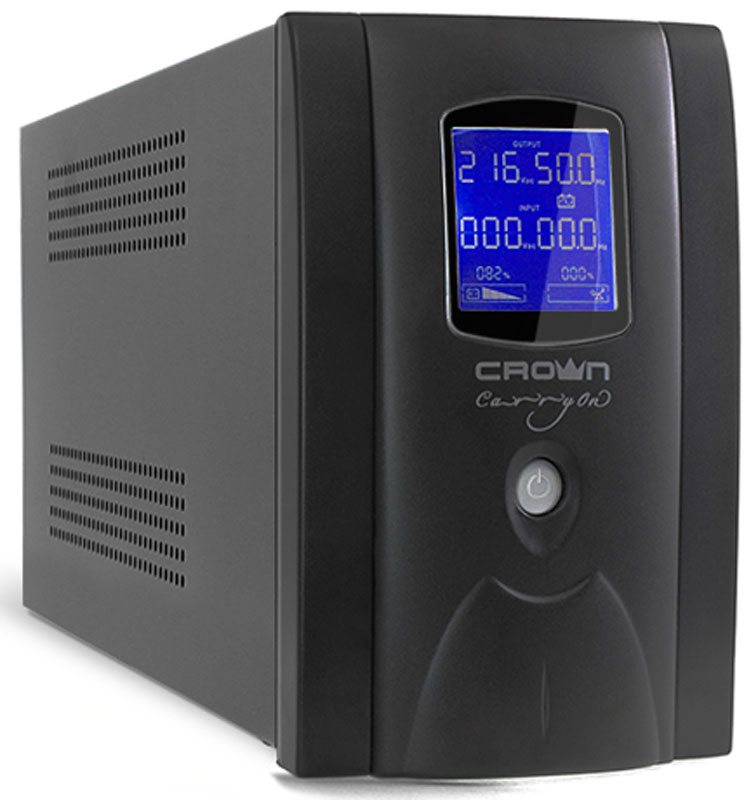 Crown Micro CMU-SP650IEC LCD USB 650VA\390W ИБП ибп crown cmu 1200iec lcd