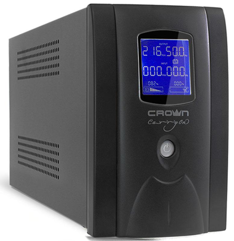Crown Micro CMU-800EURO LCD USB 800VA\480W ИБП crown micro cmu 850хiec usb 850va 510w ибп