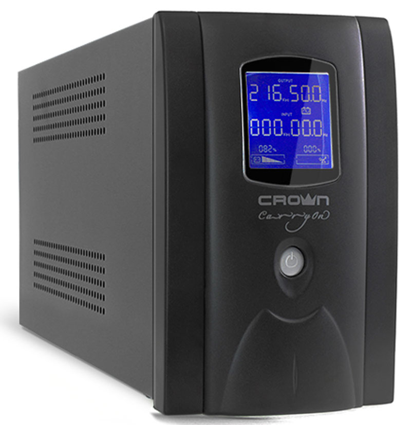 Crown Micro CMU-SP800EURO LCD 800VA\450W ИБП ибп crown cmu 1200iec lcd