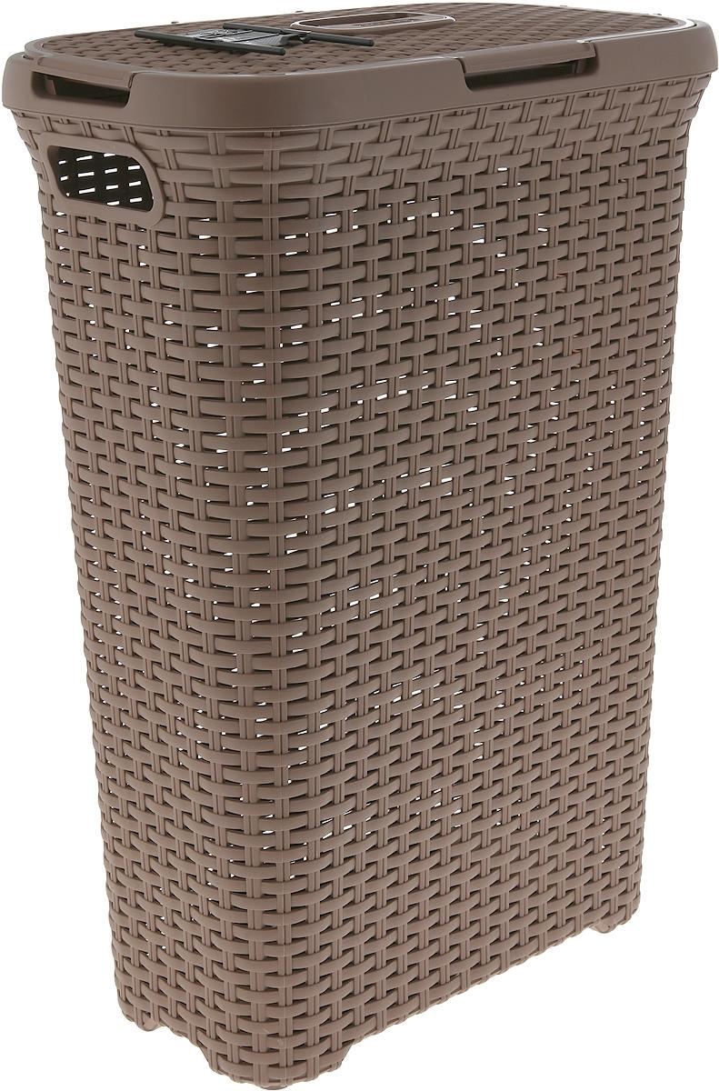 Практичная и эстетичная корзина для белья серии Rattan Style - это идеальный выбор для ценителей эстетики и удобства. Привлекательный вид, фактура, напоминающая ротанг, позволит украсить ванную комнату или прачечную в соответствии с новейшими тенденциями, а легкая ажурная конструкция позволяет циркуляцию воздуха.