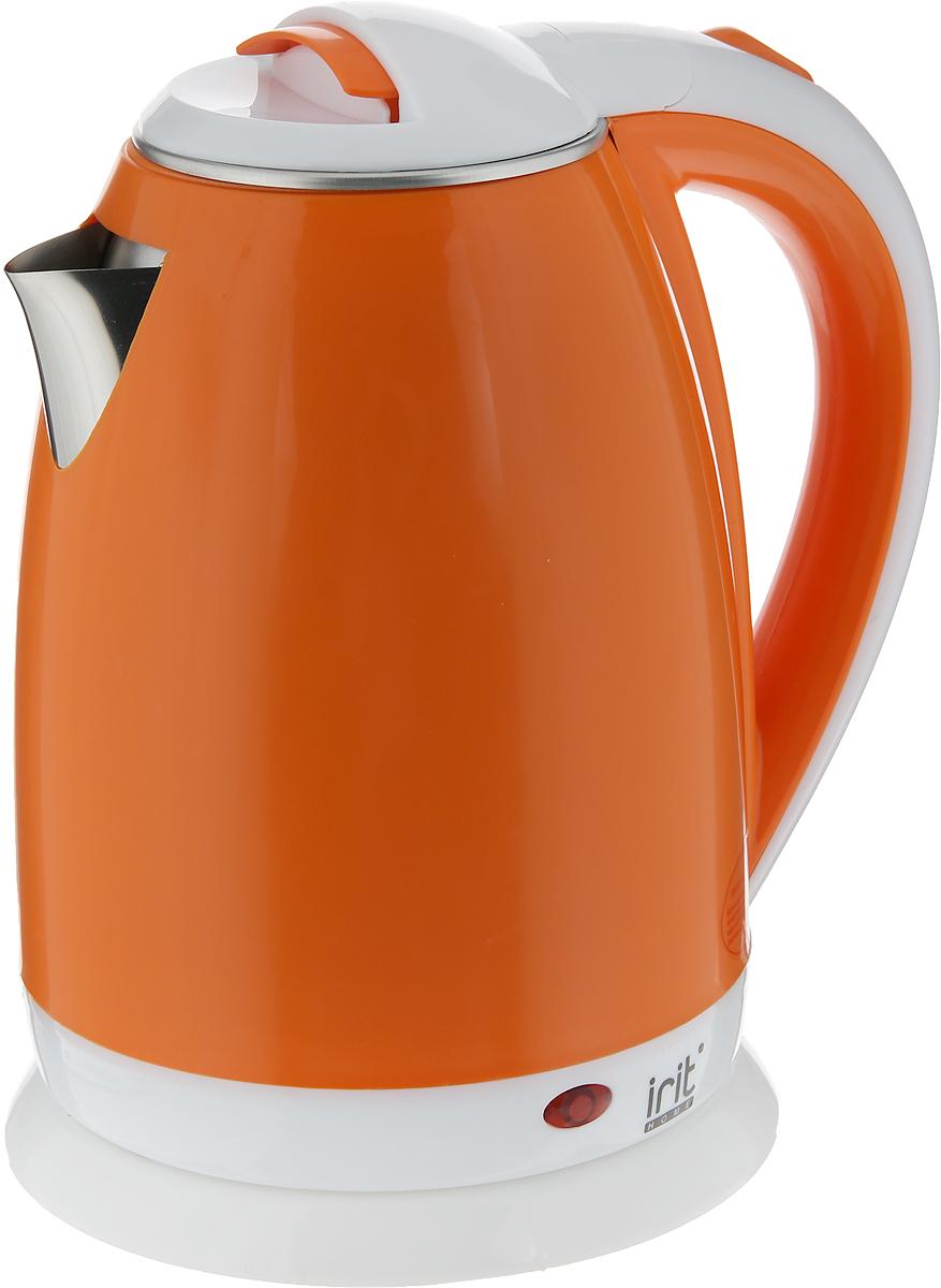 Irit IR-1233 электрический чайник79 02385Электрический чайник Irit IR-1233 прост в управлении и долговечен в использовании. Изготовлен из высококачественных материалов. Мощность 1500 Вт вскипятит 1,8 литра воды в считанные минуты. Беспроводное соединение позволяет вращать чайник на подставке на 360°. Для обеспечения безопасности при повседневном использовании предусмотрены функция автовыключения, а также защита от включения при отсутствии воды.
