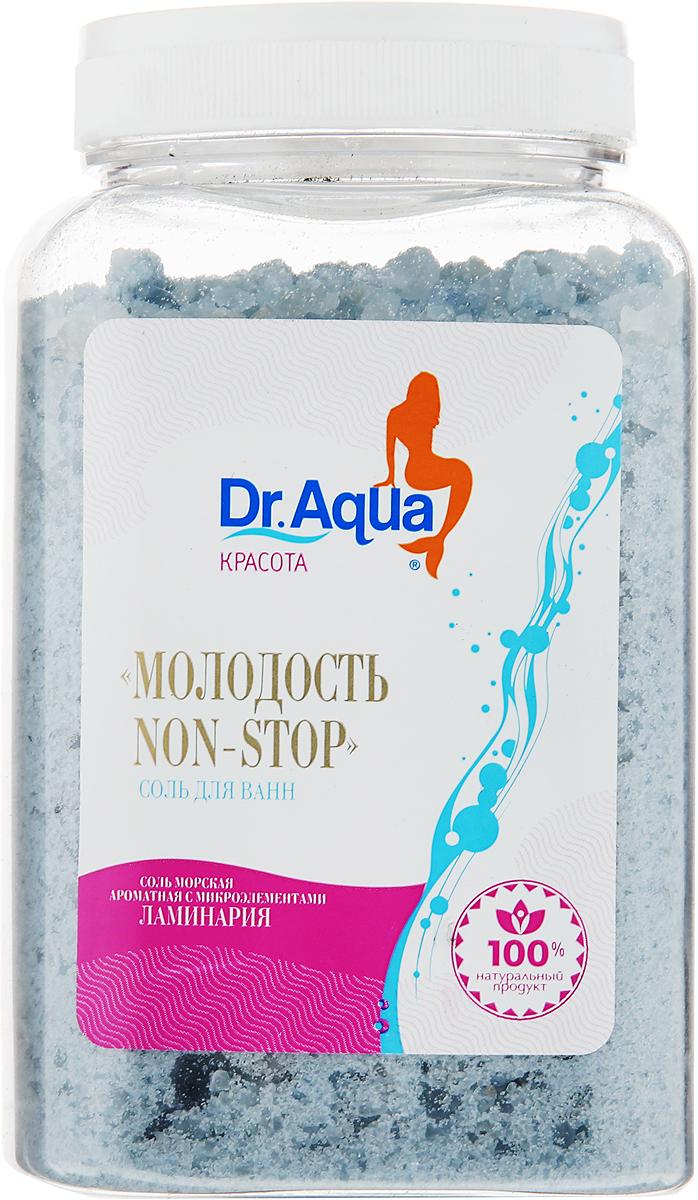 """Dr. Aqua Соль морская ароматная """"Non Stop"""", с экстрактом ламинарии, 750 г"""