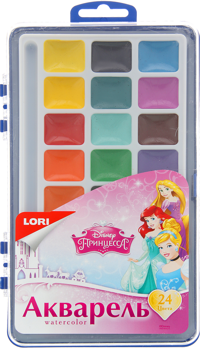 Lori Акварель Disney Принцессы 24 цвета