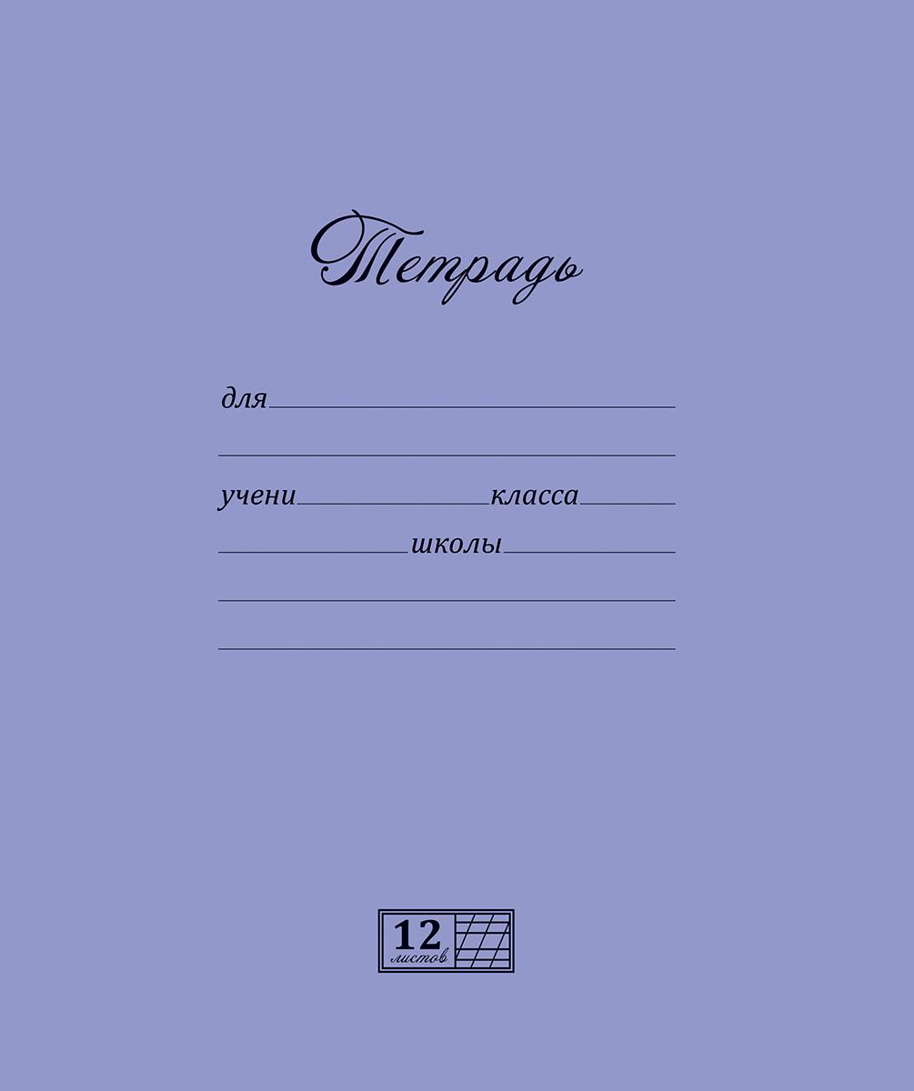 Magic Lines Тетрадь Новая великолепная тетрадь 12 листов в косую линейку цвет серо-голубой