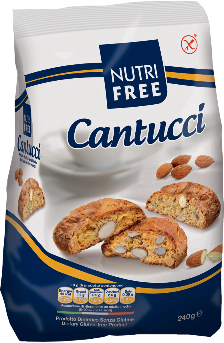Nutrifree Cantucci печенье с кусочками миндаля, 240 г nutrifree cantucci печенье с кусочками миндаля 240 г