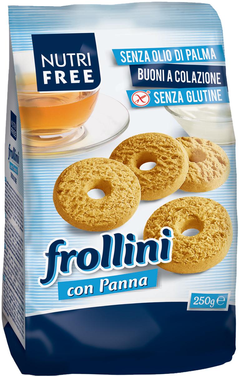 Nutrifree Frollini con Panna печенье сливочное, 250 г бискотти постное с льняной семечкой печенье 80 г