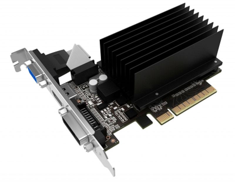 Gainward GeForce GT 710 1GB SilentFX видеокарта (426018336-3583)426018336-3583Gainward GeForce GT 710 1GB SilentFX - обеспечивает в 3 раза более высокую производительность в играх, чемвстроенная графика, при этом гарантируя надежность и стабильность работы благодаря GeForce Experience.GeForce ExperienceСамый простой способ оптимизировать свои игры и обновлять драйверы — приложение GeForce Experienceавтоматически уведомляет вас о новых выпусках драйверов Nvidia. Не покидая рабочий стол, вы сможете однимкликом сразу же обновить драйвер видеокарты.Nvidia PureVideo HDСочетание ускорения декодирования HD видео и постобработки, обеспечивает проигрывание видео без помех,потрясающую чистоту изображения, четкость цвета и точное масштабирование изображения в фильмах и видео.Все это с невероятной эффективностью энергопотребления.Потоковое аудио форматов TrueHD и DTS-HDПолная поддержка TrueHD и продвинутых кодеков для многоканального HD аудио без сжатия DTS-HD дарит вамневероятное наслаждение звуком прямо у вас дома.HDCPHDCP – это система защиты от несанкционированного копирования цифрового контента высокого разрешения,предотвращающая перехват цифрового потока данных, следующего от источника к дисплею.