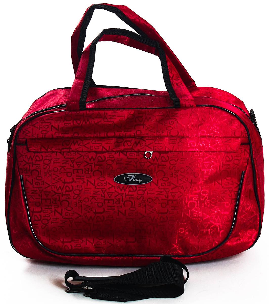 Сумка дорожная Ibag, цвет: красный, 21 л5206 Красные буквыТекстильный саквояж. Материал жаккард. Снаружи 2 накладных кармана на молнии, по 1-му с каждой стороны. Внутри 1 большое отделение, 1 боковой карман на молнии + 2 кармана накладных. В комплекте плечевой ремень.