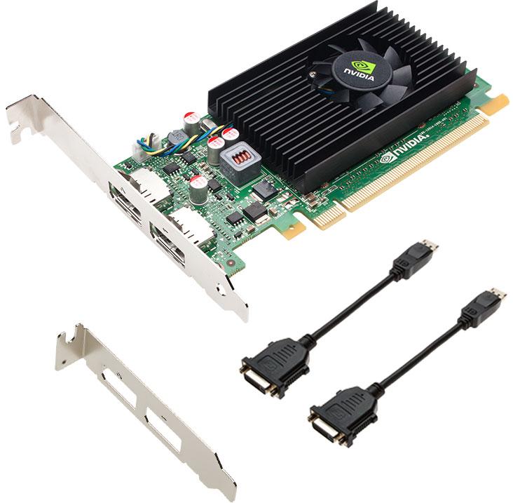 PNY NVIDIA NVS 310 1GB видеокарта (VCNVS310DVI-1GB-PB)VCNVS310DVI-1GB-PBПовысьте производительность вашего предприятия с помощью графического решения с двумя дисплеями PNY NVIDIA NVS 310. Эта графическая плата обеспечивает надежную аппаратную и программную платформу, обеспечивающую быструю, экономичную интеграцию, развертывание и поддержку на крупных предприятиях. Каждая плата NVS 310 оснащена DVI, технологией NVIDIA Mosaic и программным обеспечением для управления настольными системами NVIDIA NVIEW и может управлять двумя 30-разрядными дисплеями с разрешением до 2560x1600 с частотой 60 Гц. Это позволяет профессионалам бизнеса максимизировать производительность за счет увеличения своей настольной недвижимости и использования передовых инструментов управления приложениями. Кроме того, каждый NVS 310 протестирован на ведущих бизнес-приложениях и разработан с идеальным балансом производительности и мощности для удовлетворения потребностей самого требовательного бизнес-пользователя.Технология управления питанием NVIDIA снижает общие затраты на электроэнергию системы. Он интеллектуально адаптирует общее использование мощности графической подсистемы на основе приложений, выполняемых конечным пользователем. Этот оптимизированный по мощности дизайн помогает снизить общую стоимость владения (TCO) и повысить надежность.