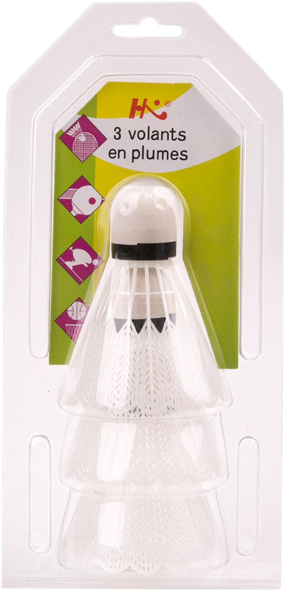 Набор воланов для бадминтона Magic Home, цвет: белый, 3 шт. 4133541335Бадминтон - весёлое летнее развлечение. Набор из 3 белых воланов - незаменимый спутник продолжительной игры в хорошей компании.