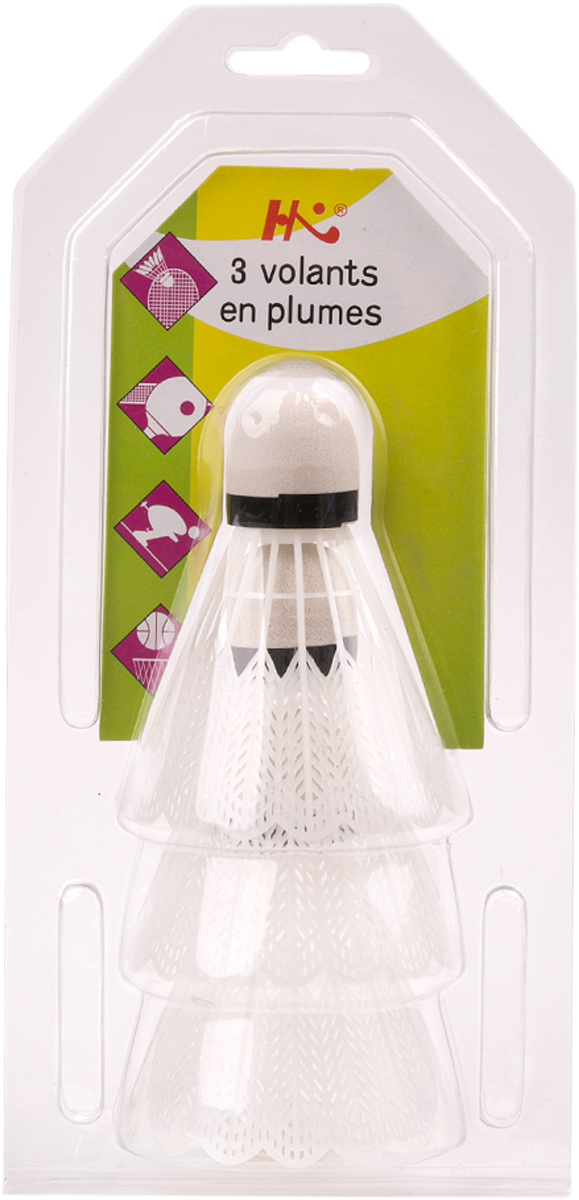 Набор воланов для бадминтона Magic Home, цвет: белый, 3 шт. 45042 набор форм для заливного home queen с крышками 3 шт