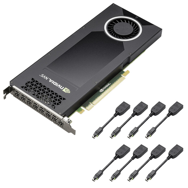 PNY NVIDIA Quadro NVS810 4GB видеокарта (VCNVS810DP-PB) видеокарта hp nvidia nvs 315