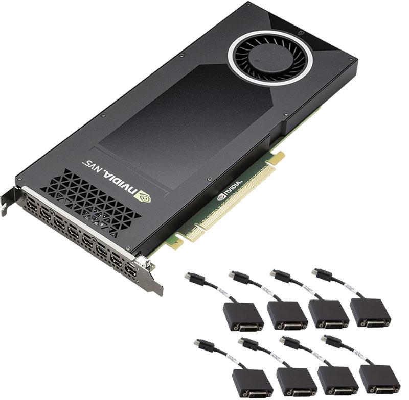 PNY NVIDIA Quadro NVS 810 4GB видеокарта (VCNVS810DVI-PB)