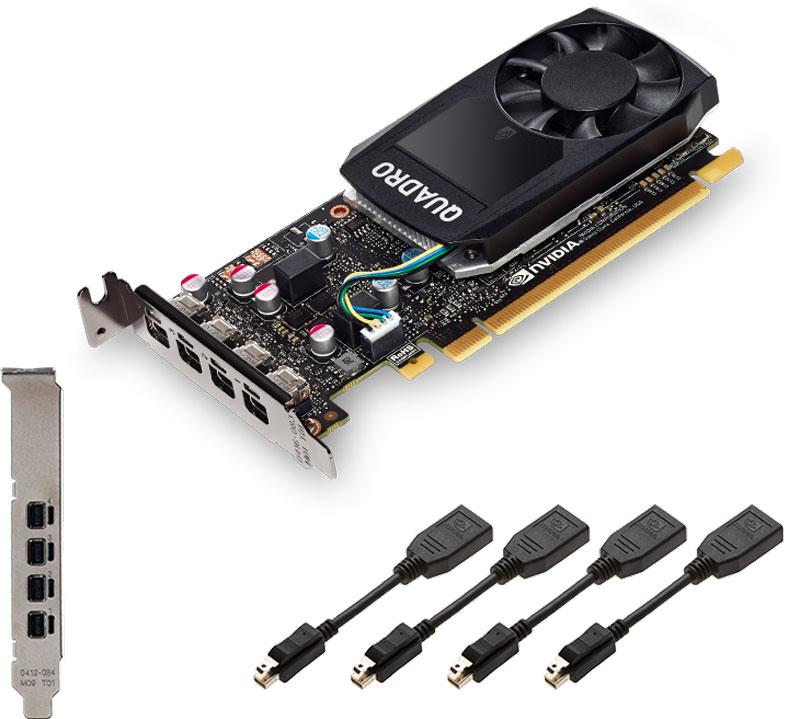 PNY NVIDIA Quadro P600 2GB видеокарта (VCQP600-PB)